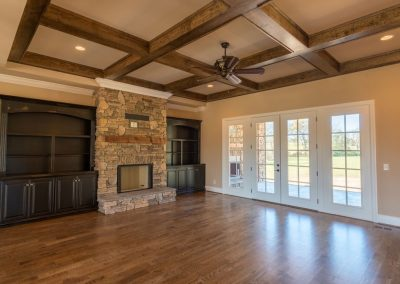 Home Builders Hendersonville Tn Rustic Acres Great Room Coffers