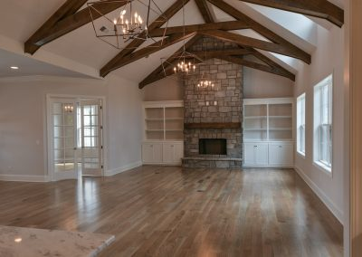 Home Builders Hendersonville Tn True Transitional Great Room Beams