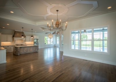 Home Builders Hendersonville Tn White Lace Great Room & Kitchen