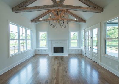 Home Builders Hendersonville Tn White Lace Great Room Beams